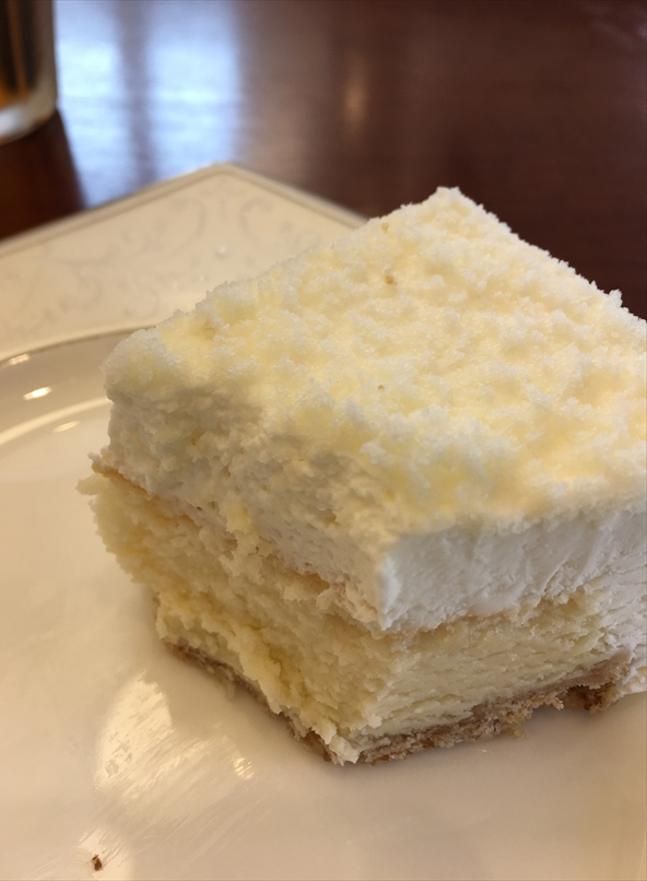 しまうま珈琲のチーズケーキ断面