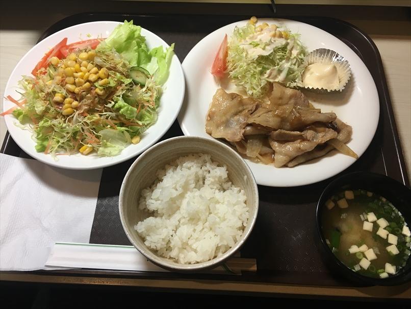 コローレの生姜焼き定食