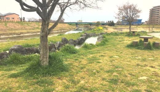 浜松市中区上島にある馬込川上島緑地は開放的で広い!
