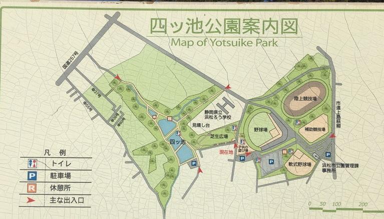 四ツ池公園案内図