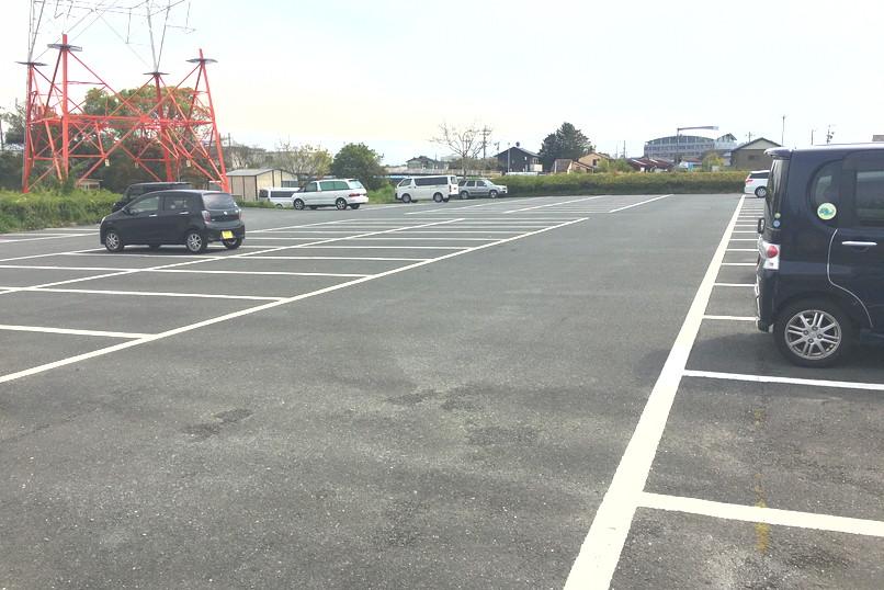 馬込川上島緑地の駐車場