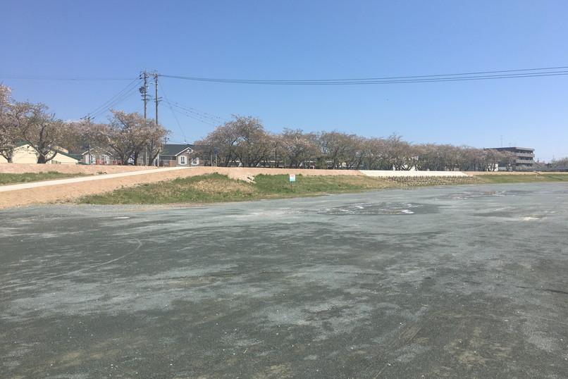 都田川桜堤の駐車場