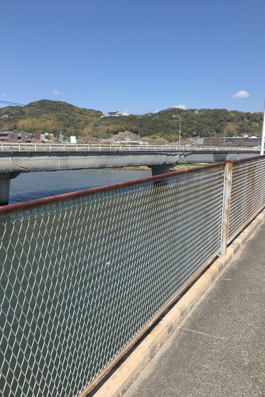 都田川桜堤近くの橋