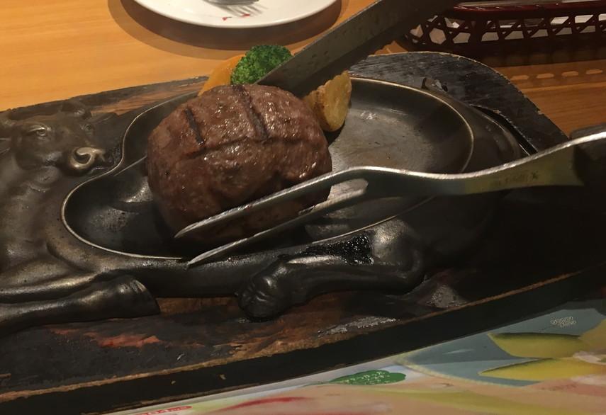 炭焼レストランさわやかのげんこつハンバーグ最初の状態