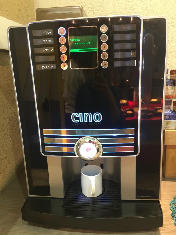 イタリアンバイキングFANTASIAのコーヒーマシン