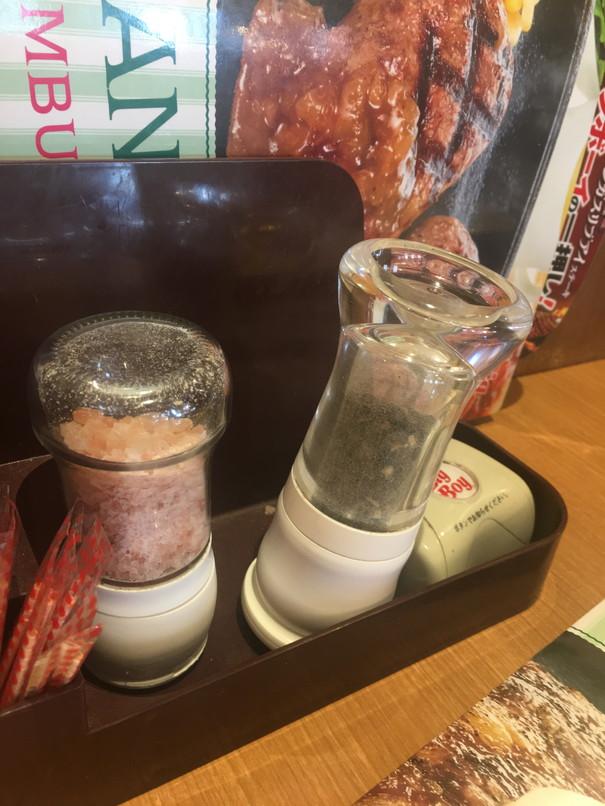 ビッグボーイの大俵ハンバーグ岩塩と胡椒