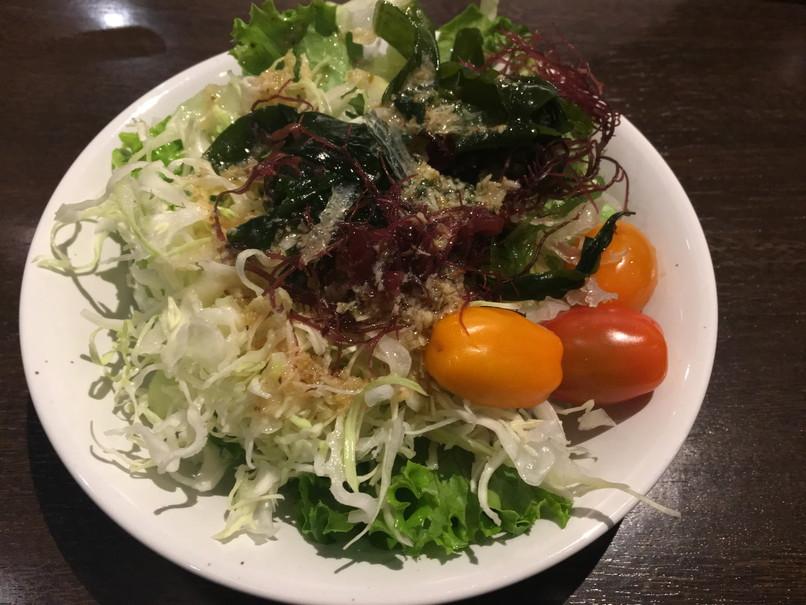ステーキのあさくまのサラダ