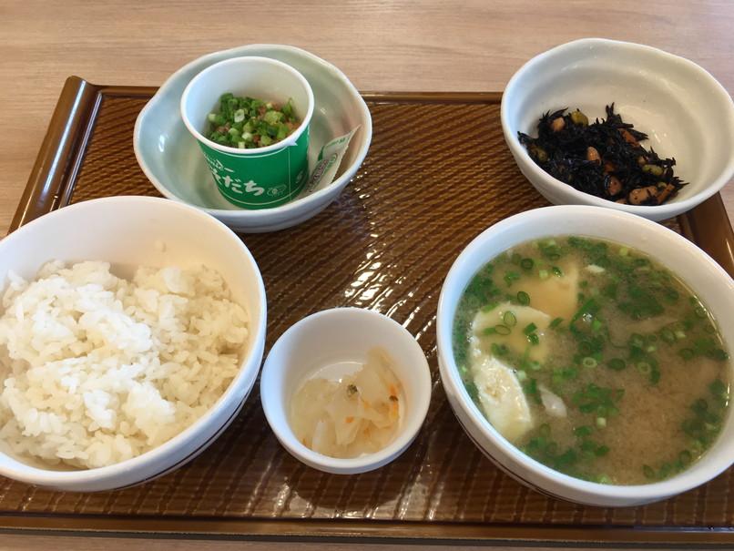 ガストのモーニング根菜具だくさん味噌汁定食