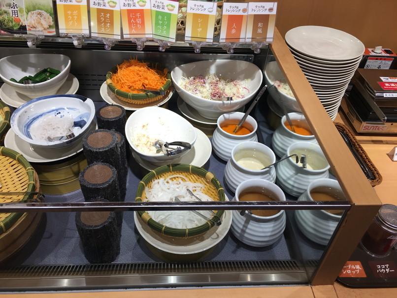しゃぶ葉磐田店の野菜コーナー
