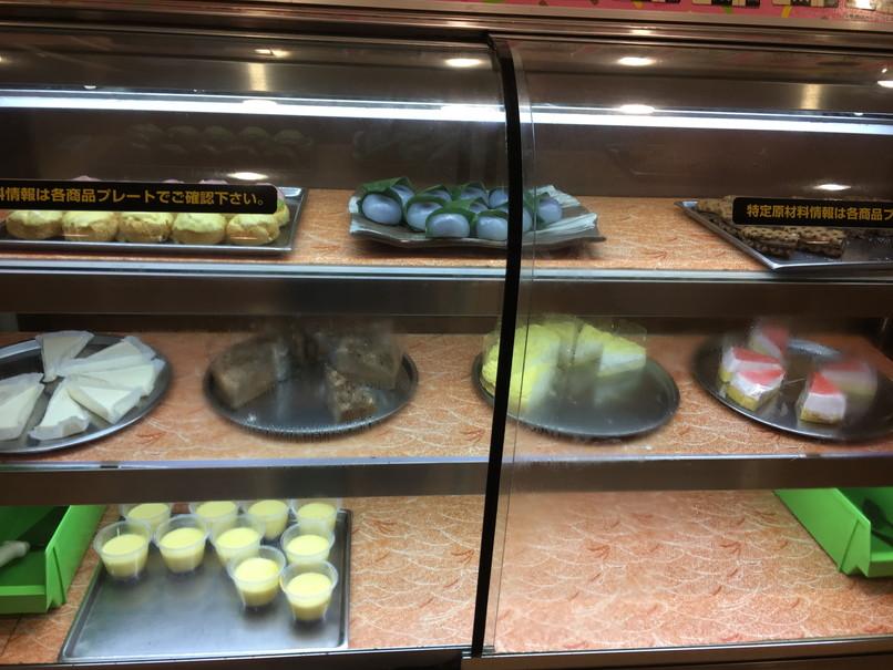 すたみな太郎のケーキ、和菓子コーナー