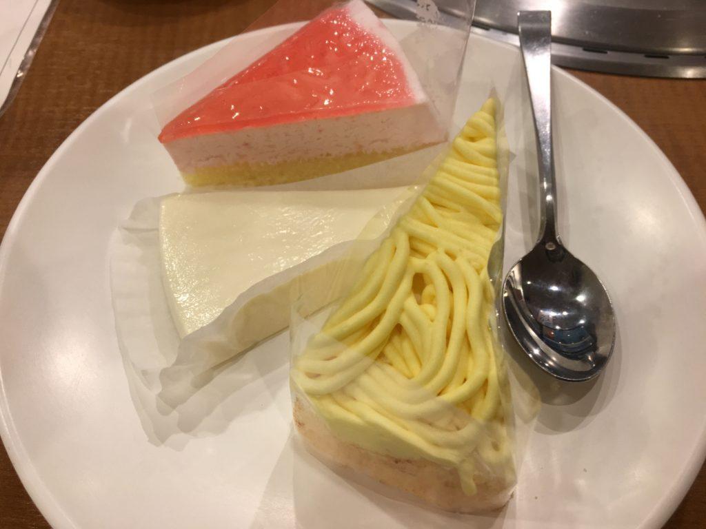 すたみな太郎のケーキ