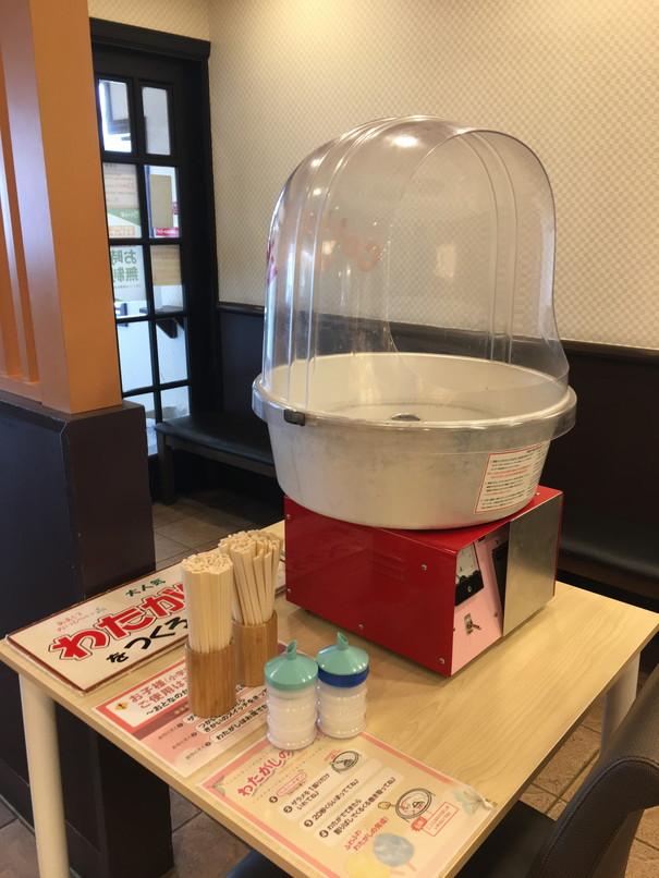 しゃぶ葉磐田店のわた菓子